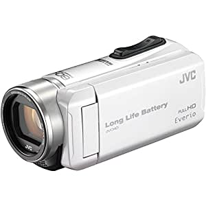 JVC ビデオカメラ Everio R  耐低温 耐衝撃 長時間内蔵バッテリー 内蔵メモリー32GB パールホワイト GZ-F200-W