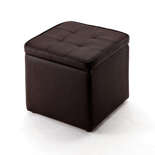 サンワダイレクト 収納スツール 足置きとしても使える ボックススツール ブラウン 150-SNCBOX1BR