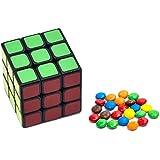 Cube to Candy / ルービックキューブは虹飴に変わる(ルービックキューブ+ダイス+カードパッド)マジック道具セット、ルービックキューブが砂糖に変わる 大ダイスから小ダイスになる 近景アピアリング/ディスアピアリングマジック 豊富な演出環節 ストリート/ステージコミュニケーション チャイルドマジック