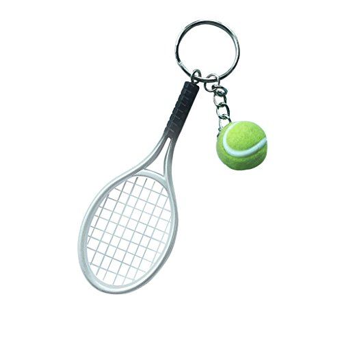 【ノーブランド 品】ミニ テニス ボールラケット ペンダント...