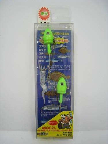 エコギア 3Dジグヘッド14g・2ケ入リD01グロウ 3594