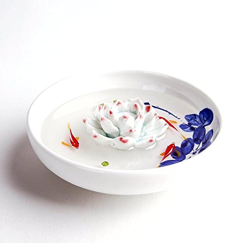 小競り合い付属品ベテランお香立て お香たて 香の器 お香を焚いて 香皿,陶磁器、白