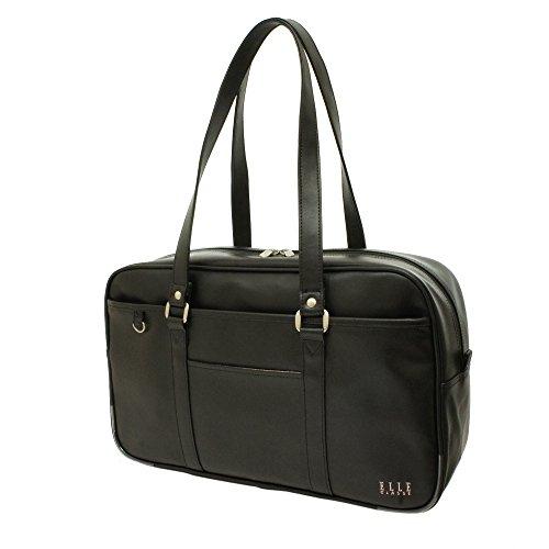 [エル]ELLECLASSEスクールバッグ合皮製通学バッグ学生鞄中学生高校生レディース女の子DCEL420(ブラック 黒)