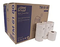 "Tork Advanced TM6180 Soft Bath Tissue Roll,2-Ply,4.5"" Width x 3.75"" Sheet Length,White,Epa Compliant (Case of 80 Rolls,550 per Roll,44,000 Sheets) [並行輸入品]"