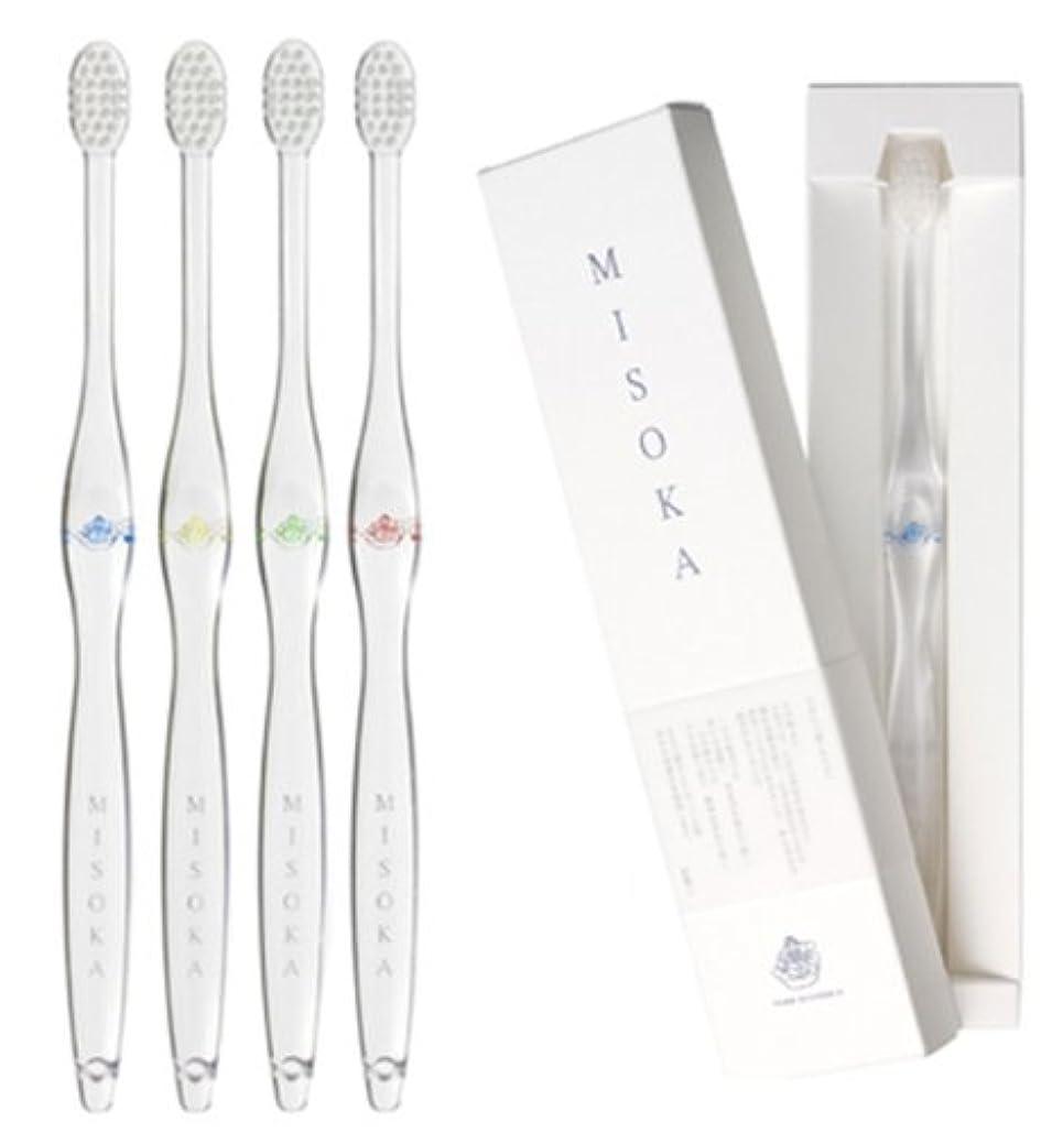 緊張キャップ待つMISOKA 夢職人 魔法の歯ブラシ / M普通サイズ4本 / ミネラルでできているから歯磨き粉不要! / 旅行に便利! / ナノテク