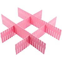 uxcell 引き出しディバイダ プラスチック材料 ストレージオーガナイザ 厚板パーティション4個入り