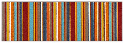 クリーンテックス ジャパン wash+dry薄型で丈夫な洗える玄関マット Stripes burnt orange 60×180cm 1枚 [5532]
