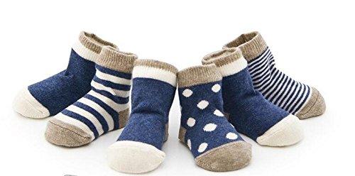 medy (メディー) 赤ちゃん ベビー 新生児 可愛い ソックス 靴下 柔らかい 靴下 ソックス お祝い 出産 祝い ムール用 外用 4足 (M, ブルー)