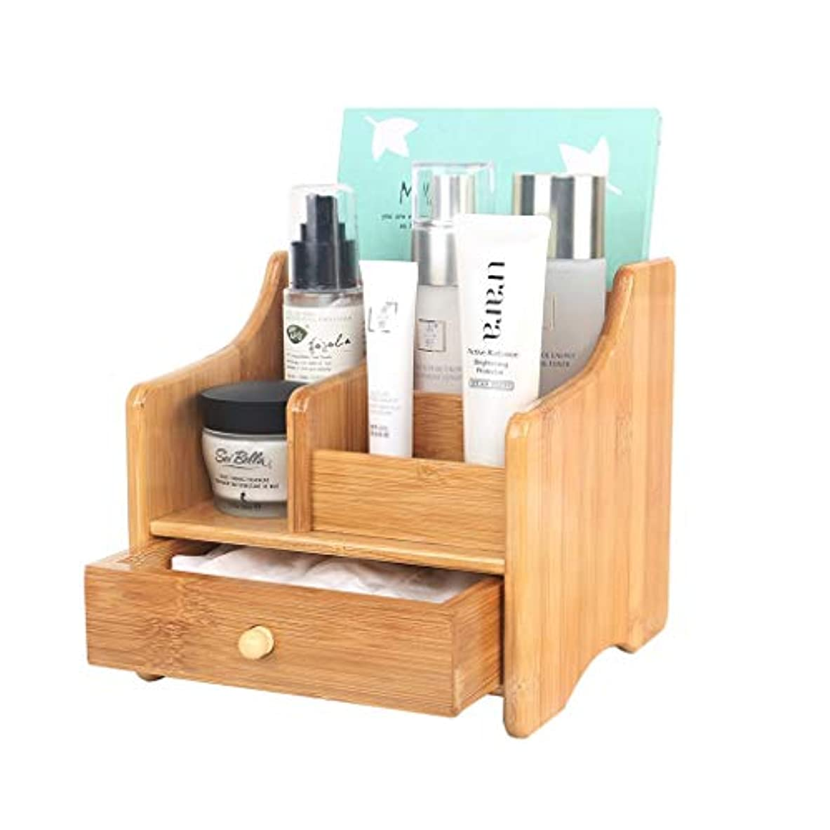 農村リーストリッキー化粧品収納ボックス木製引き出しタイプシンプル収納ラックホームスキンケア製品
