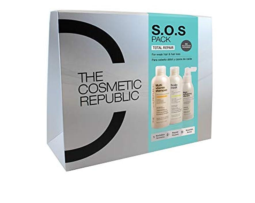 髪の弱さと秋のためのパックSOS(マルチビタミンサンプー、スカルプマスク、ナイトリバイタライジングビタミン)