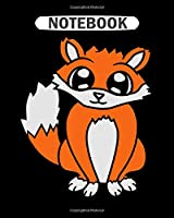 Notebook: sitting cute cute little child fox nice design coo  College Ruled - 50 sheets, 100 pages - 8 x 10 inches
