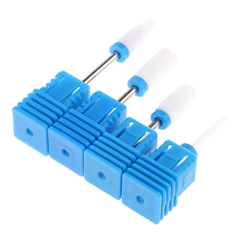 玉理想的歯痛Toygogo 4xネイルドリルビットグラインダーマニキュアペディキュアツール、彫刻、研削、ルーティング、シャープニング、サンディング、研磨、掘削用のアクリルジェルネイル用