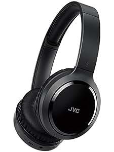 JVC HA-S78BN ワイヤレスノイズキャンセリングヘッドホン Bluetooth/連続16時間再生/軽量設計/有線接続対応
