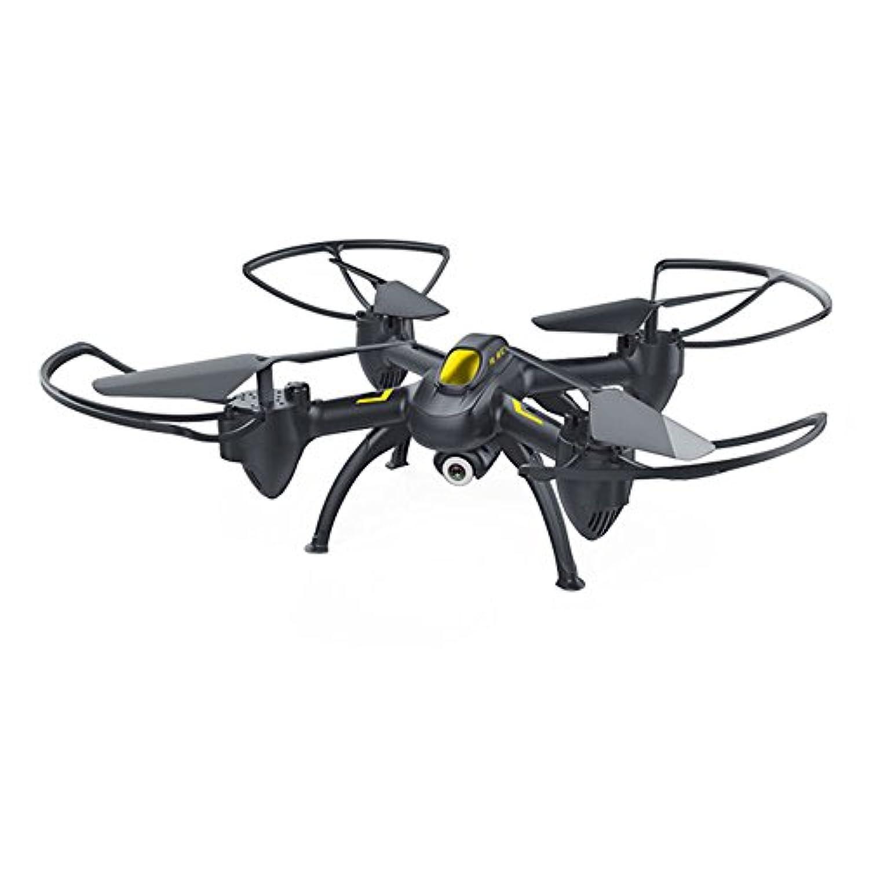 Springdoit インテリジェントなクワッドコーンドローン高度な4CH ABS飛行USB充電子供のクリスマスプレゼント(黒)