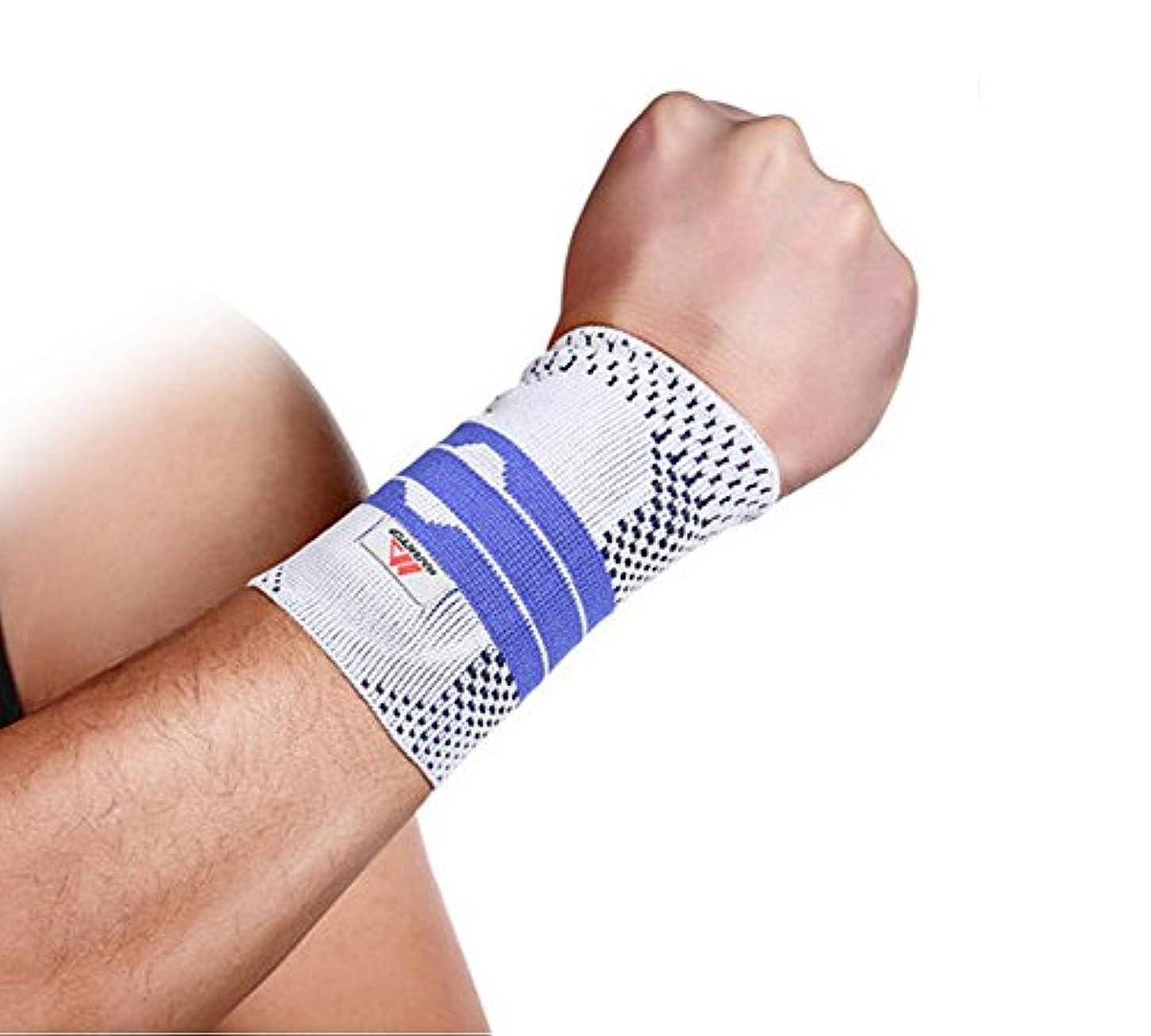 カプセルフラッシュのように素早く最終Chaokele Mens Elastic Protect Basketball Sports Wrist Wrap M Standard Grey