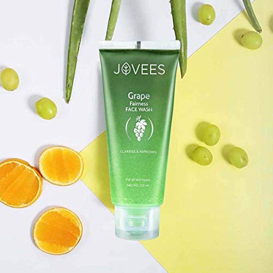 放射する原子炉瞑想Jovees Clarifying Grape Fairness Face Wash 120ml Orange Peel extract and Vitamin E オレンジピールエキスとビタミンEを配合したグレープフェアネス洗顔料