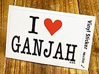 ステッカー アイラブ I LOVE GANJAH ガンジャ_SC-IL014-GEN