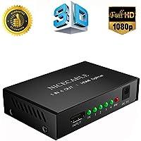 HDMI分配器 HDMIスプリッター 1入力4出力 4画面同時出力 高解像度1080p(1920×1080)・3D フルハイビジョン高画質映像 PS3 PS4 TV ゲーム機 DVD プロジェクターなど対応