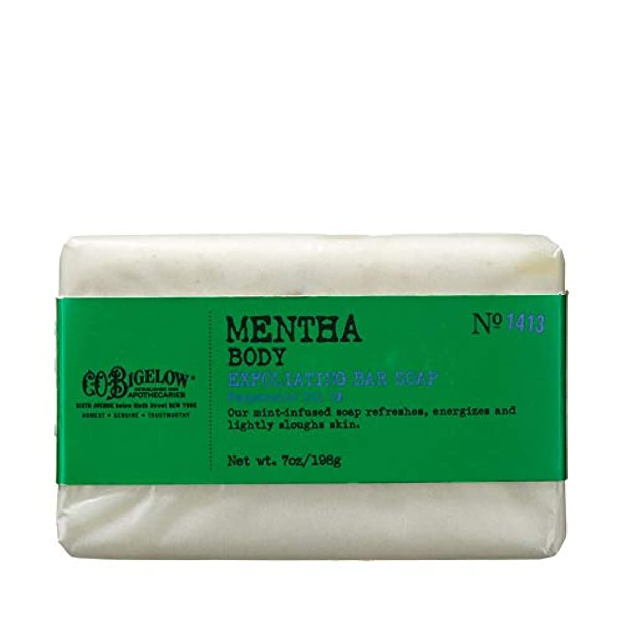 スペア動物サミット[C.O. Bigelow] C.O.ビゲローハッカピーリング石鹸 - C.O. Bigelow Mentha Exfoliating Bar Soap [並行輸入品]