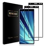 【2枚セット】Nimaso Sony Xperia 10 Plus 用 強化ガラス液晶保護フィルム【全面保護】業界最高硬度9H/貼り付け簡単/気泡ゼロ/3D Touch対応
