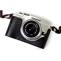 TP OLYMPUS オリンパス E-PL2 (EPL2)用本革カメラケース&バッテリーケース付ストラップ 各種カラー