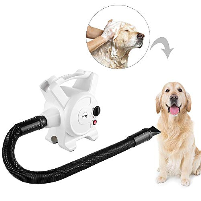 PEDY犬のヘアドライヤー3.2 HPの無段階調整可能な速度3つのノズル2400Wの猫のブロワーのためのペットグルーミング乾燥機