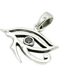 [シルバーワン] シルバー925 ホルスの目 ペンダントトップ メンズ mh ジルコニア エジプト神話