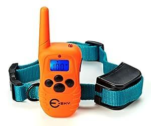 Esky 無駄吠え防止首輪 ペット トレーニングカラー 電池式 リモートコントロール しつけ犬用 EP-R300-C1