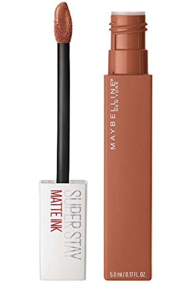 禁止吸い込むシートMaybelline New York Super Stay Matte Ink Liquid Lipstick,75 Fighter, 5ml