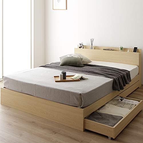ベストバリュースタイル ベッド 収納付き シングル ナチュラル ベッドフレーム B07NJ8TBKQ 1枚目
