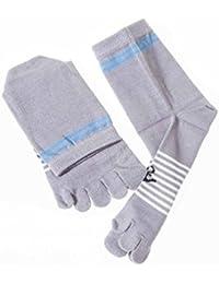 五本指ソックス 靴下 コットン製 メンズ アンカー 灰色