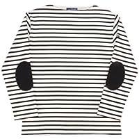 セントジェームス SAINTJAMES ウエッソン エルボーパッチ付バスクシャツ(ボーダー)OUESSANT ELBOW PATCH(BORDER)