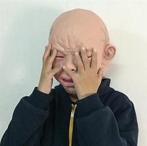 リアルマスク 赤ちゃん 泣き顔 ベビーマスク 被り物 変装 コスプレ グッズ 2016年大晦日 科学博士24時 笑ってはいけない 宴会 ハロウィン パーティー