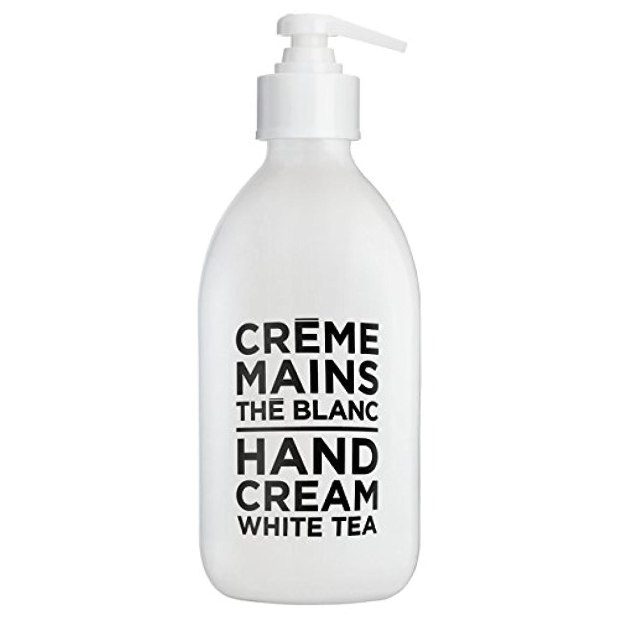 険しいタイマー背の高いカンパニードプロバンス ブラック&ホワイト ハンドクリーム ホワイトティー(ホワイトティーにシトラスを添えた気品ある香り) 300ml