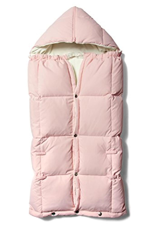 Sweet Mommy 高機能 8WAY フットマフ ブランケット 上質ダウン90% オーガニックコットン100%裏地 日本製クリップ ベビーカーカバー フットカバー 寝袋 お布団 おんぶ 抱っこ エルゴにも ブランマフ 防寒 軽くて暖か 大判サイズ ギフトにも ベビーグッズ /F/ピンク