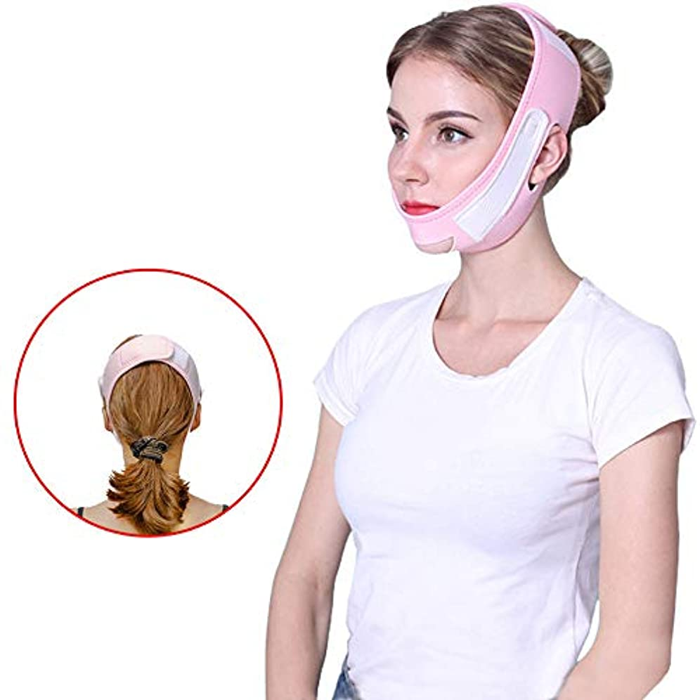 グリット区別する生態学マスクチークチン首を持ち上げスリムVラインの顔 - スリムバンド、アンチリンクルリフトVフェイスライン、二重あごを持ち上げる通気性の顔は、パッチマスクを締め付け削減します