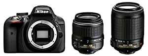 Nikon デジタル一眼レフカメラ D3300 ダブルズームセット 付属レンズ:18-55mm GII/55-200mmVR D3300WZA