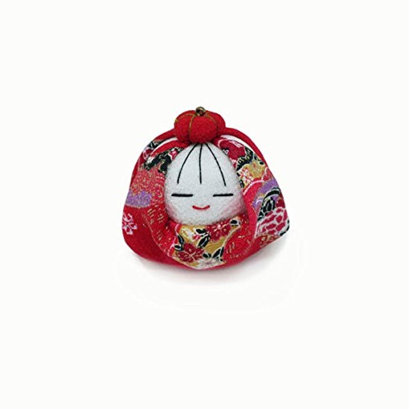 ギャザー背景不十分な匂袋 姫だるま (赤花)
