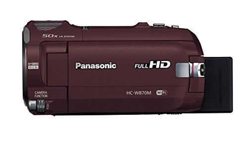 PanasonicHDビデオカメラW870Mワイプ撮り50倍ズームブラウンHC-W870M-T