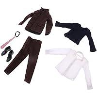 Dovewill セット 1/6スケールスーツ ジャケット ズボン シャツ 服装 12インチ男性フィギュアボディ対応