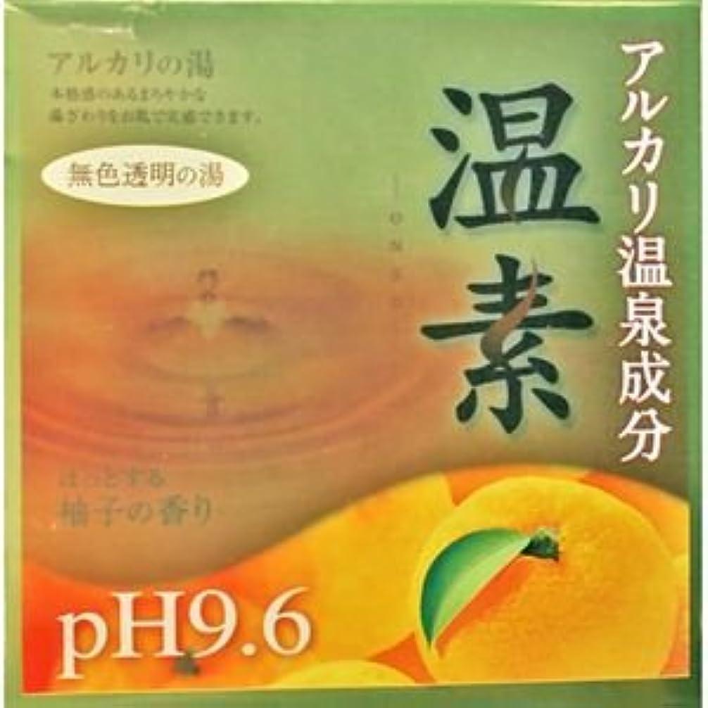 爆発大いに逃げる【アース製薬】温素 柚子の香り 30g×15包 ×5個セット