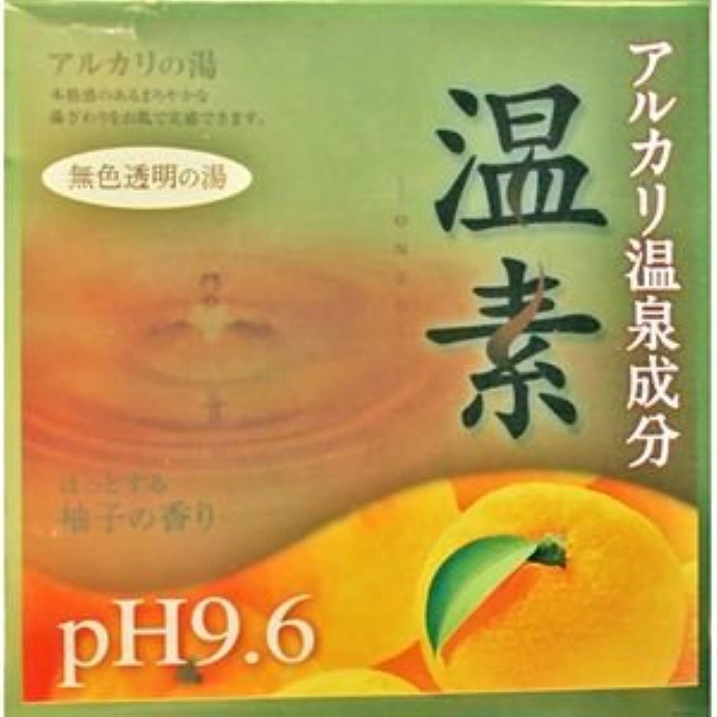 半円折り目ピアース【アース製薬】温素 柚子の香り 30g×15包 ×5個セット