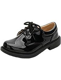 (ピピシダ)PPXID 子供シューズ ローファー フォーマルシューズ 男の子革靴 紐靴 発表会 結婚式 七五三 入学 入園 ブラック ホワイト