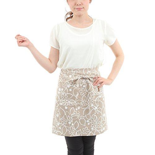 Vita home ギャルソンエプロン ラップタイプ 北欧 ブルージュ ベージュ 綿100% 日本製 ga_006_be