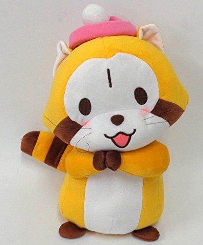 Rascal the Raccoon Begging Knit Hat BIG Stuffed Animal Square Enix 40cm Japan