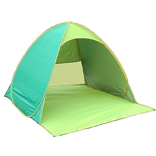 (kakuma)サンシェードテント ワンタッチ UVカット 日よけ 防水 組立不要 軽量 折畳 コンパクト 2-3人用テント 花見 登山 運動会 海水浴 ビーチ用テント