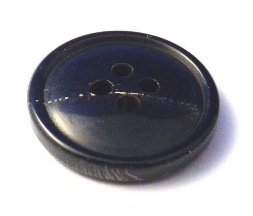 本水牛ボタン スーツ1着分セット №994 漆黒