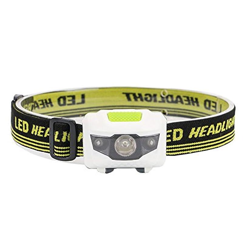 ランタンホイッスルリテラシーXIAOBUDIAN ミニヘッドランプ4モード防水600Lm R3 + 2 LED懐中電灯超高輝度ヘッドライトヘッドランプトーチヘッドバンド使用3AAA