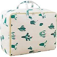 綿のリネン収納袋サボテンのパターン高品質のポータブル防湿トラベルオーガナイザー羽毛布団の衣服移動仕上げ荷物の収納袋 (サイズ さいず : 40 * 49 * 29cm)