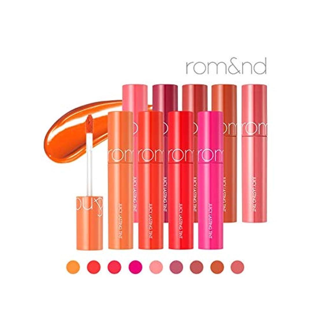 ロータリー地元怒るローム?アンド?ジューシーラスティングティントリップティント韓国コスメ、Rom&nd Juicy Lasting Tint Lip Tint Korean Cosmetics [並行輸入品] (No.8 apple brown)